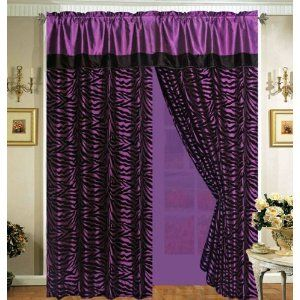 The curtain has been composed of satin fabric and also fuses plain panel with zebra design on valance of this curtain, which makes it stand apart and lends a whole new and distinct look to it. Description from hometone.com. I searched for this on bing.com/images