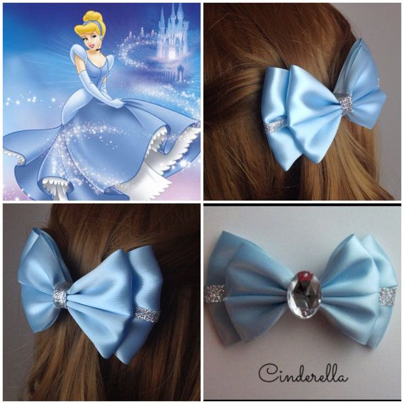 Handmade Hair Bow. Disney's Cinderella. by HairBowObsessions