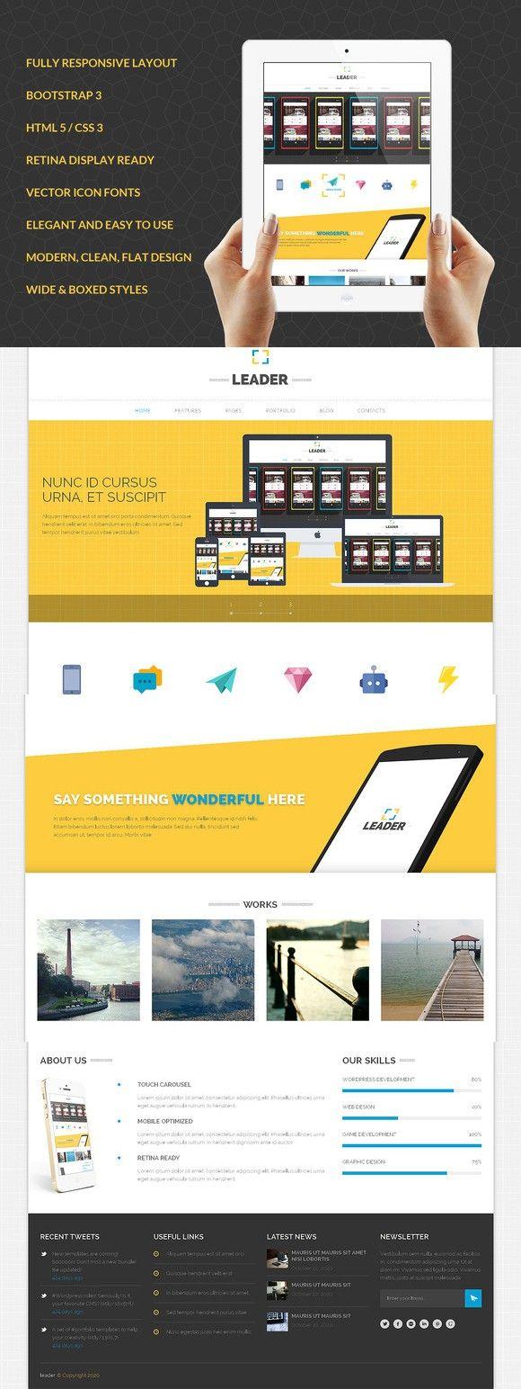 263 besten Bootstrap Themes Bilder auf Pinterest   Vorlagen ...