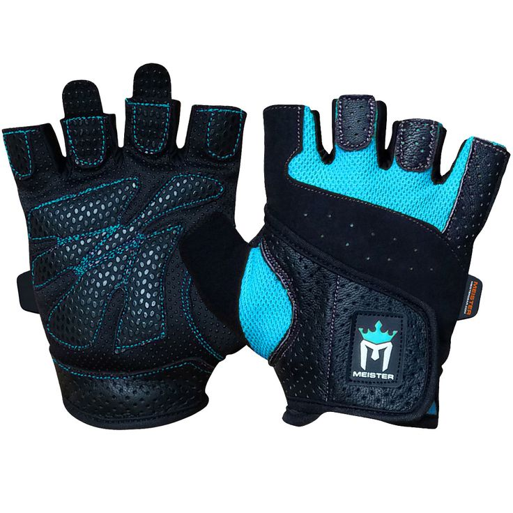 Meister Women's Fit Weight Lifting Gloves - Black/Turquoise