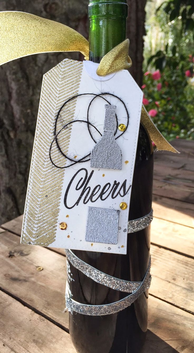 Homemade Cards by Erin: Cheers wine tag