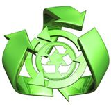 Understanding the Greening of America: Look for the recycling logo when buying green products.