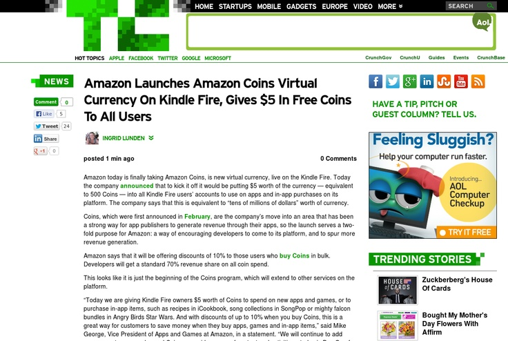 http://techcrunch.com/2013/05/13/amazon-launches-amazon-coins-virtual-currency-on-kindle-fire-gives-5-in-free-coins-to-all-users/ ...   #Indiegogo #fundraising http://igg.me/at/tn5/