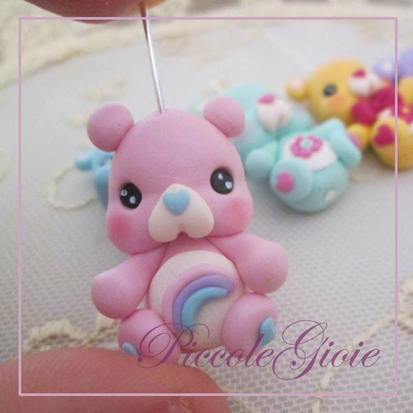 Pink care bear by PiccoleGioie Facebook/piccolegioiefimo