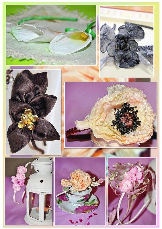 Ободочки с шелковыми цветами. Больше фото на www.detali-71.ru Headband
