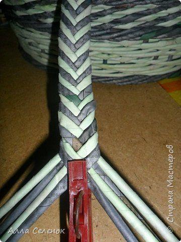 Мастер-класс Поделка изделие Плетение Косичка из 8 трубочек Бумага газетная Трубочки бумажные фото 10