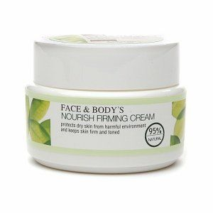 Face and Body Nourish Firming Cream, Dry Skin, 1.76 Ounce by Face & Body. $7.49. Protects skin from harmful environment. Non-oily formula. Keeps skin moisturized and brightened with a healthy glow. Nourishing firming cream-for dry skin is natural for the face and neck, the lightweight and non-oily formula effectively protects skin from harmful environment and keeps skin moisturized and brightened with a healthy glow. This beauty product is a combination of a unique compl...