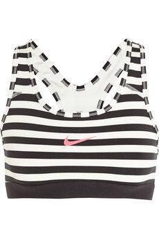 Nike Pro Classic Dri-FIT striped stretch-jersey sports bra | NET-A-PORTER