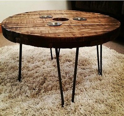 25 best ideas about cable reel table on pinterest cable for Round table legs diy