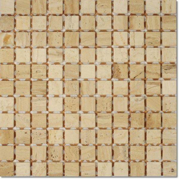 Dell'Arte - mozaiki dekoracyjne Travertino Florance 25 (plaster 30x30)