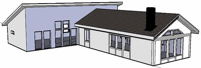Jag och min sambo har planer på att bygga ut vår sommarstuga från dagens 55 kvm till ca 125 kvm (det är vad största huset inom sommarstugeområdet är på...