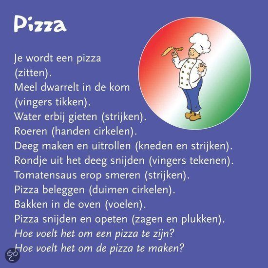Pizza (massage in de klas)