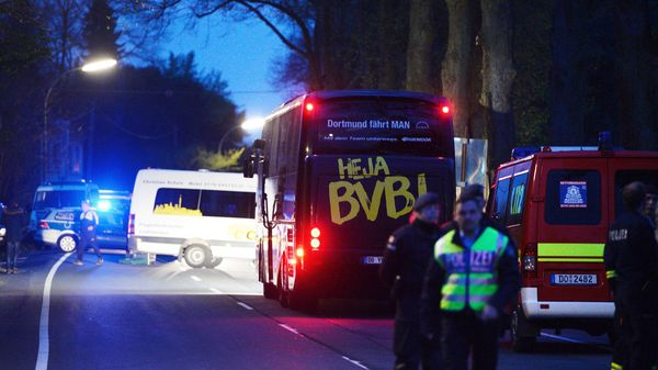 Three Blasts Go Off Near German Soccer Team Bus Injuring Player