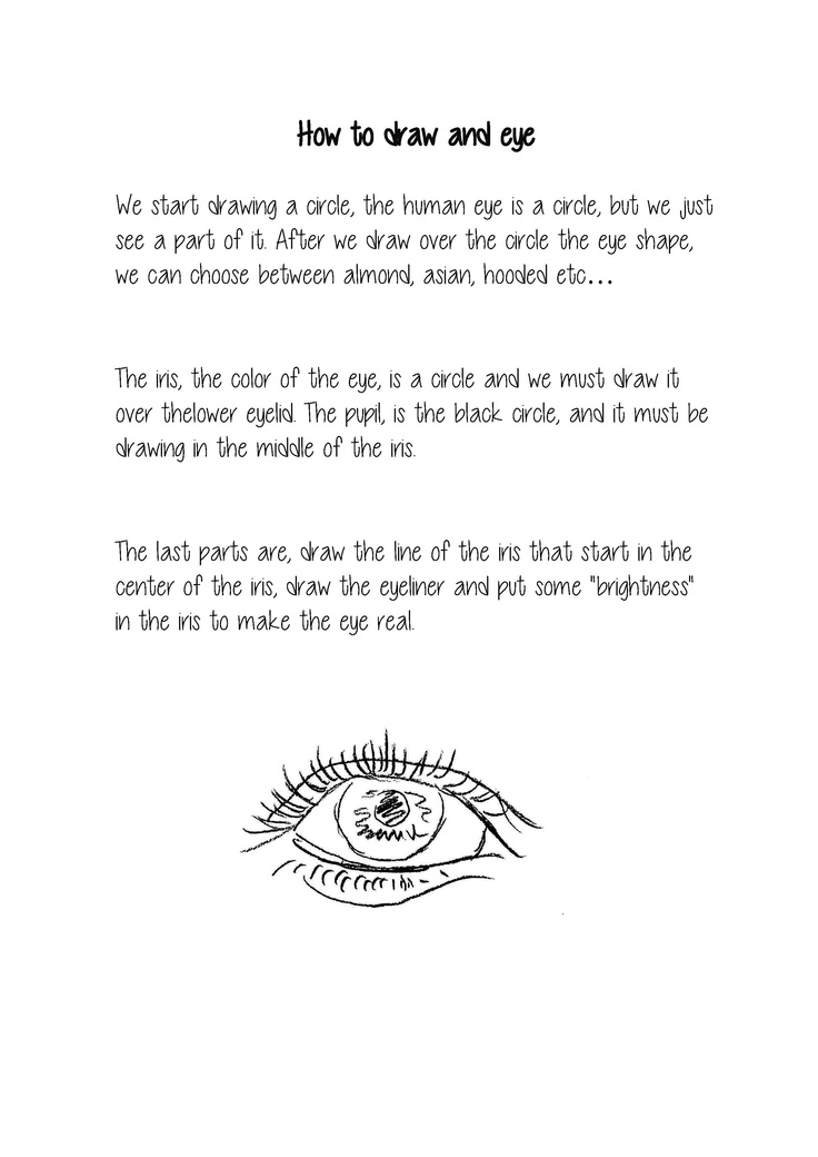 SERGIO FERNÁNDEZ. How to draw an eye.