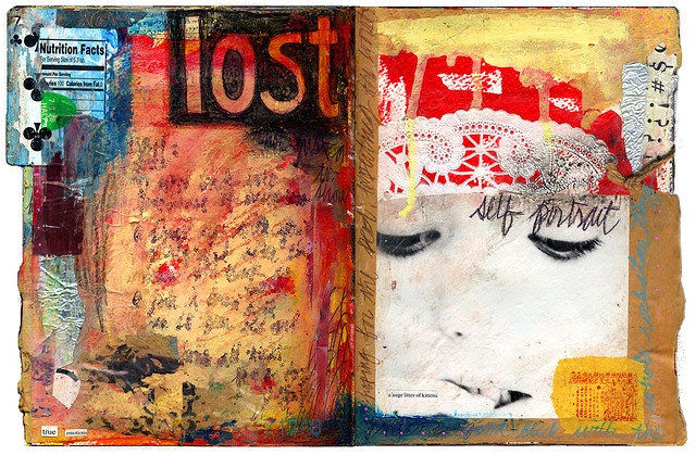 lost, art journal by sparkleface