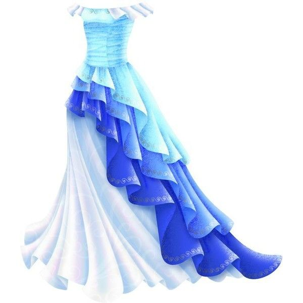 Shimmery Blue Princess Gown ❤ liked on Polyvore featuring dresses, gowns, evening party dresses, blue ball gown, going out dresses, blue dress and party gowns