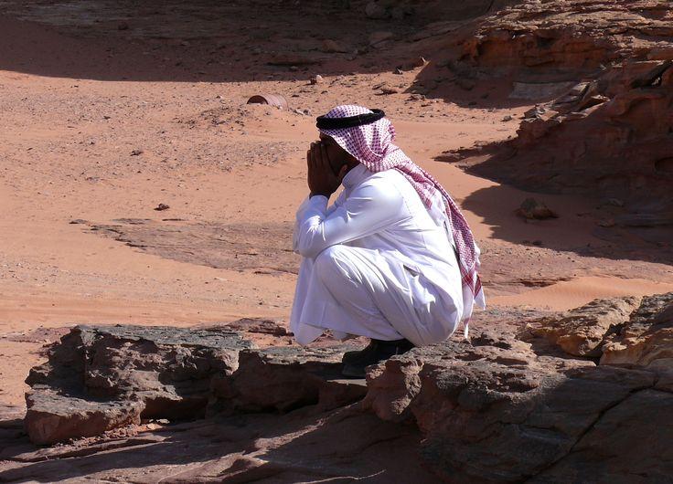En el desierto de Wadi Rum.