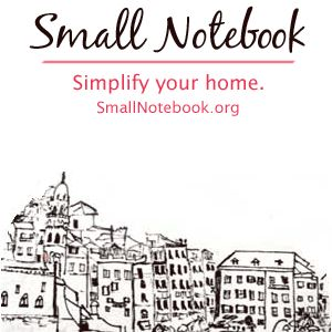 "Declutter your home and find space to breathe again. Decluttering is hard, but the resources on the blog ""Small Notebook"" will help you cut back the clutter and have a more peaceful home.  (AMAZING SITE!!!! So helpful!)"