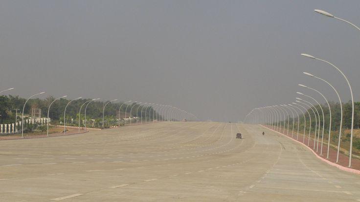 20 Lane Highway in Naypyidaw, Burma.