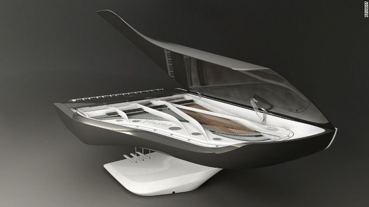 Inside the car design lab crafting pianos, bicycles and helicopters Peugeot worked with piano manufacturer Pleyel to create a concert piano that's designed to bring the audience closer to the performer.