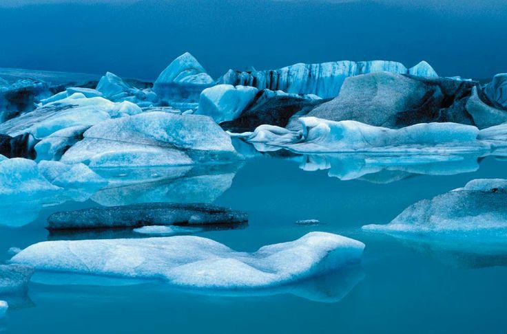 gli iceberg nella laguna glaciale di Jökulsárlón