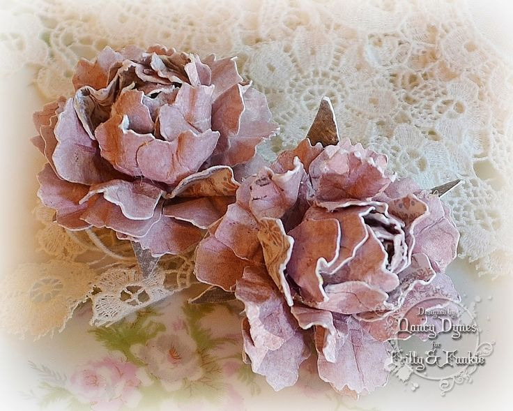Hello and welcome! Nancy here, and I'm honored to be presenting the Saturday Step by Step on this lovely day. I've shared a couple of flower tutorials in the past and I hope you won't mind if I share
