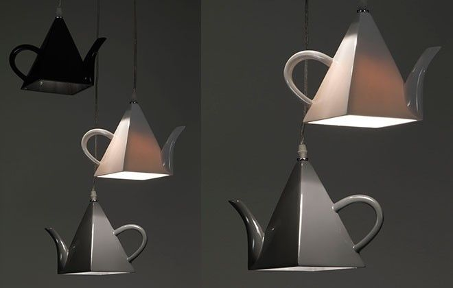 Qualcosa che non ti aspettavi: una #lampada a sospensione che riprende le forme di una teiera.