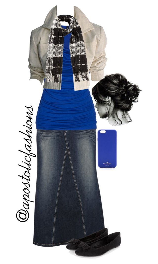 """""""Apostolic Fashions #521"""" by apostolicfashions ❤ liked on Polyvore featuring maurices, YSL RIVE GAUCHE, Burberry and Kate Spade"""
