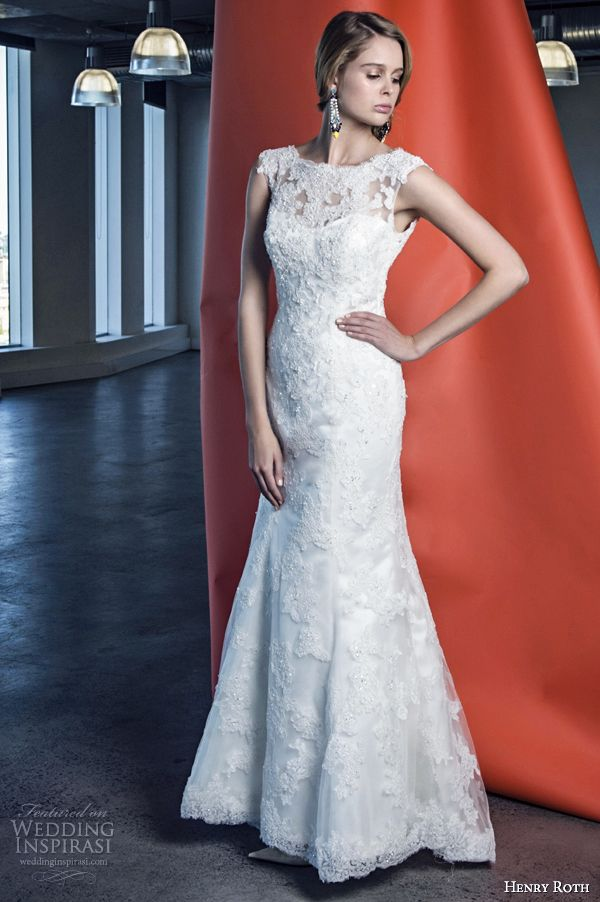 henry roth 2014 wedding dress sabrina cap sleeve