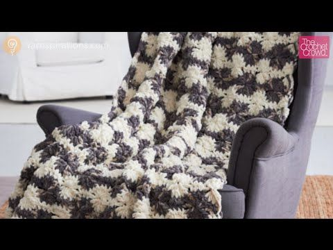 Learn how to do the Bernat Blanket Big Wheel Afghan. This is very similar to the Catherine Wheel Stitch. Using ultra thick yarn such as Bernat Blanket, these...