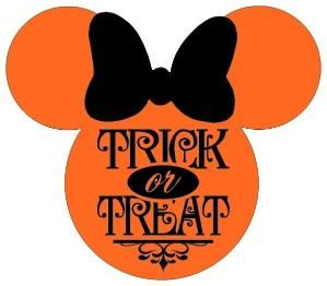 HALLOWEEN MINNIE MOUSE TRICK OR TREAT CLIP ART | Микки ...