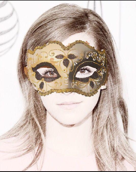 Emma Watson.  Masked beauty.