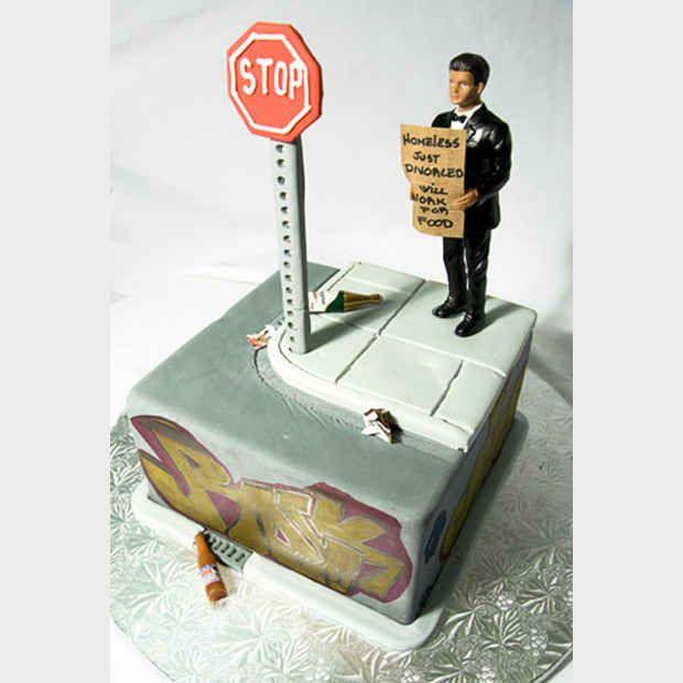 Melancólico, mas muito complexo. | 24 bolos de divórcio hilários que são até melhores do que bolos de casamento