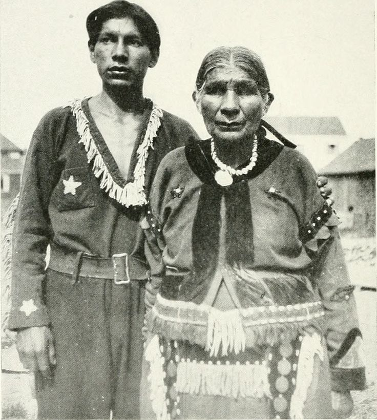 SANTU AND HER SON. JOE TONEY. Santu, 59, was a full-blood native of a tribe which called itself Osayana. The name is also known among the Micmac as Osayana. With her father she left Newfoundland at about the age of ten, or a little less, and removed to Nova Scotia, where she passed her early womanhood. Her mother was a Micmacwoman, one of the band who lived in New-foundland. She died, it seems, when Santu was quite young. A\hen Santu grew up, she married a Mohawk and spent part of her time…