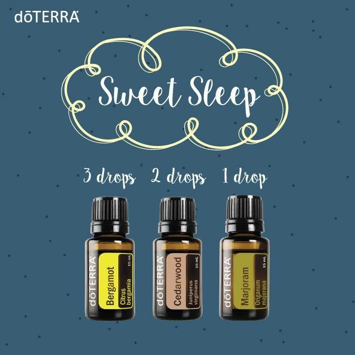 sweet sleep essential oil diffuser blend: 3 drops bergamot, 2 drops cedarwood, and 1 drop marjoram