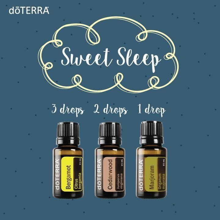 sweet sleep essential oil diffuser blend: 3 drops bergamot, 2 drops cedarwood, and 1 drop marjoram