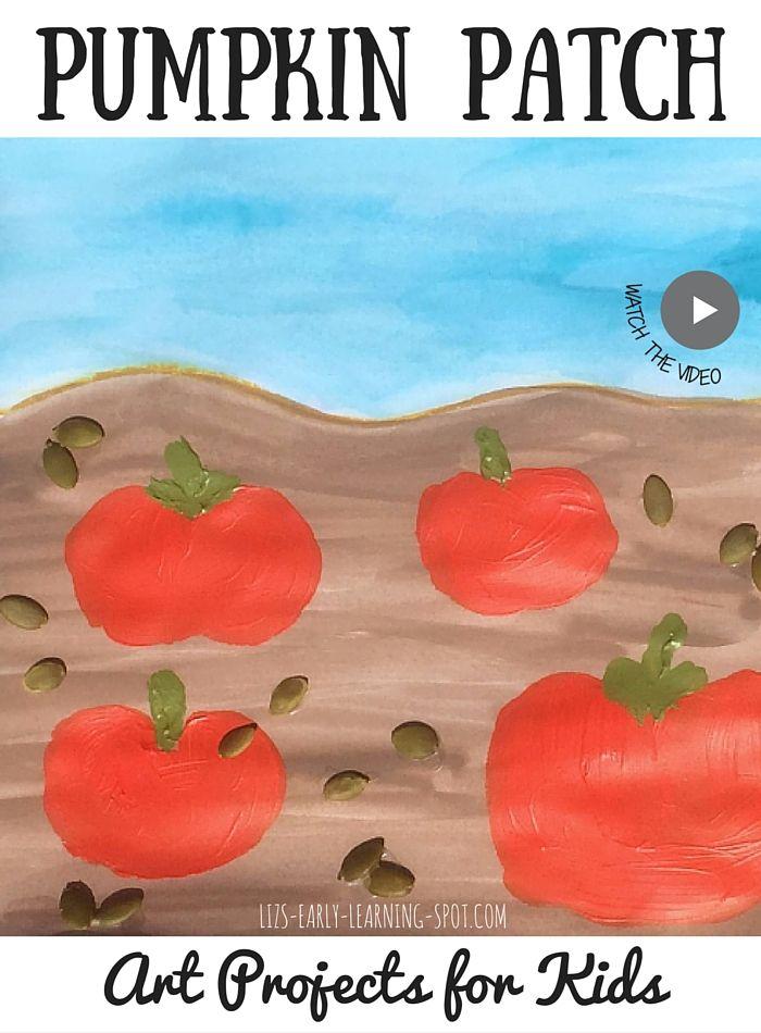Már a gyerekek létre ezt a boldog vegyes média Pumpkin Patch!