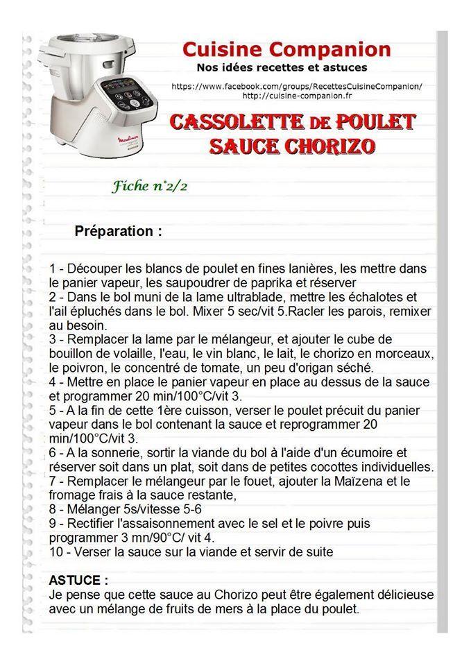 cassollette poulet/chorizo