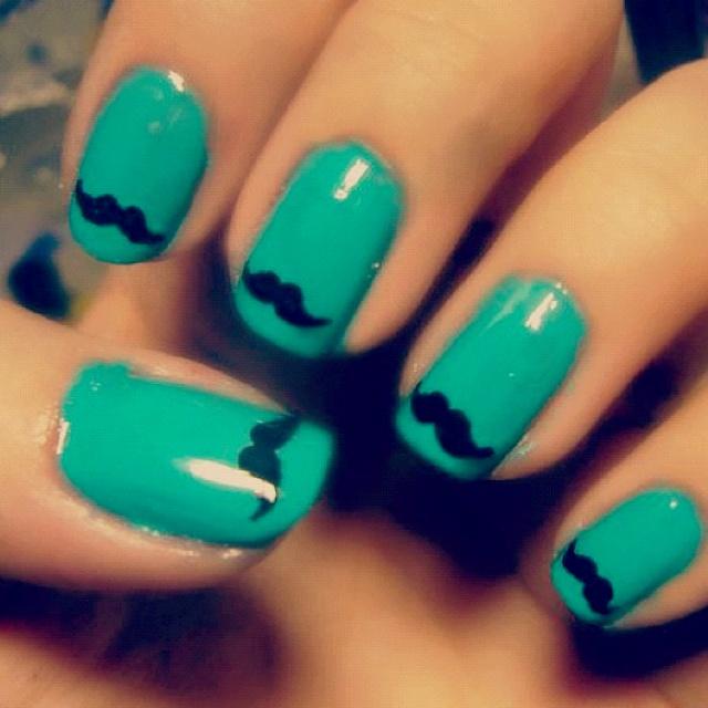 moustache nails
