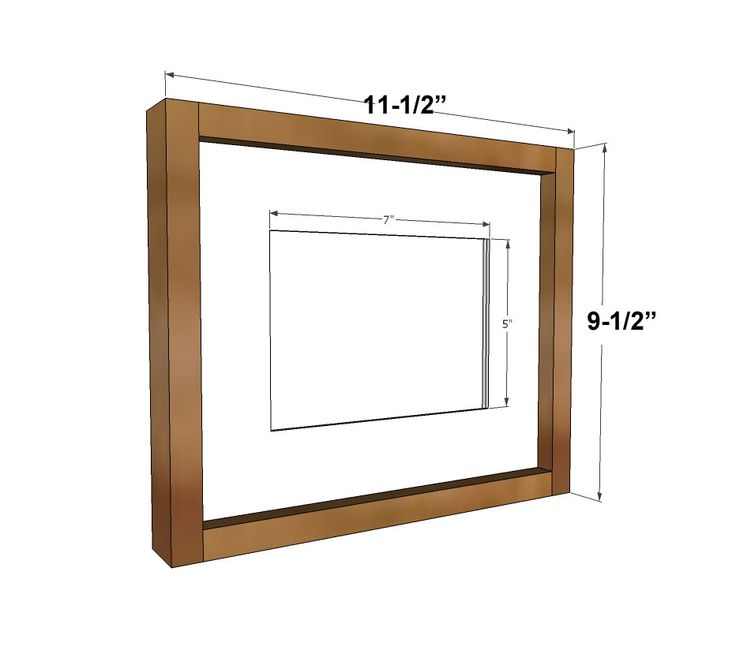 Ana White | Build a Simple Wood Gallery Frame Plans | Free ...