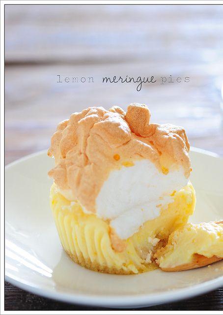 little lemon meringue pies.
