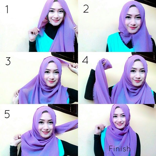 This is a very easy and quick everyday hijab wrap requiring a maxi scarf and some pins, it can be created in less than 2 minutes following the steps listed below: Place the hijab on your head using the width…