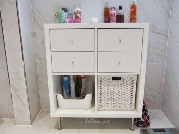 ♡ helloissyxo : New Bathroom Storage // Ikea Kallax & Billy