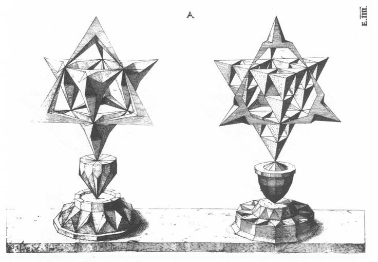 First of eight etchings of polyhedra after designs by Wentzel Jamnitzer