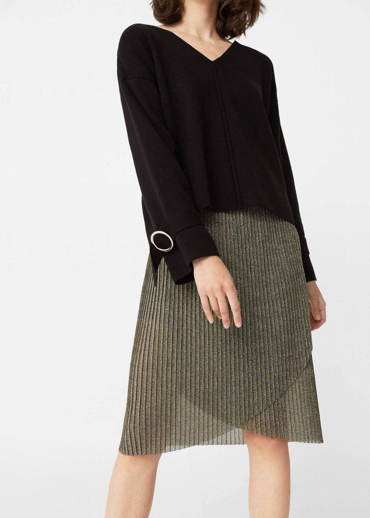 Falda plisada metalizada