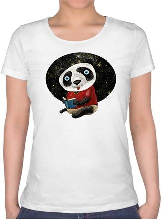 Bebek Panda Kendin Tasarla - Bayan U Yaka Tişört