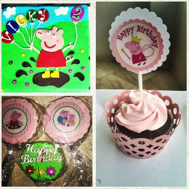 Peppa pig #peppapig #cupcakes #cake #cookies