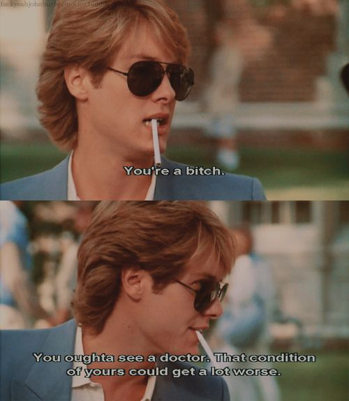 Pretty in Pink... James Spader was always the asshole. But, God, I love this movie.