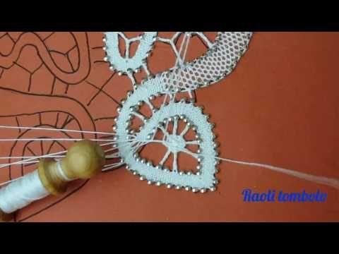 (5) Merletto a tombolo - Progetto Farfalla #5 : punta e ragnetto - YouTube