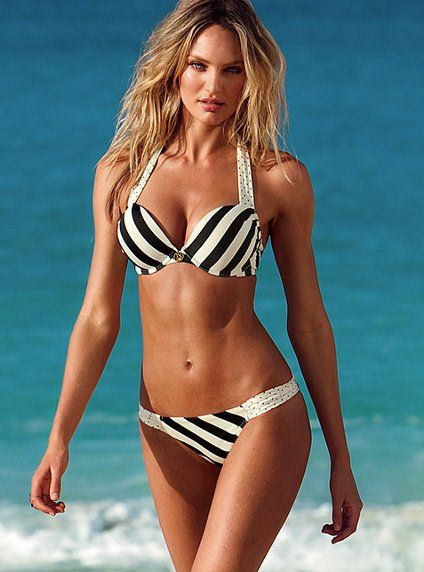 Stripey bikini